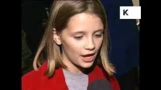 Young Mischa Barton 1997 Lawn Dogs London Premiere Interview, Archive Footage