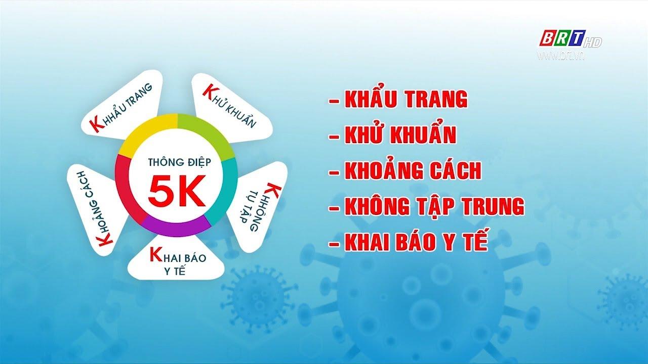 Bộ Y tế khuyến cáo người dân thực hiện thông điệp 5K để chung sống an toàn  với đại dịch Covid 19 - YouTube
