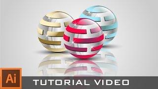 Adobe Illustrator CC Kolayca Profesyonel 3D logo oluşturma eğitimi :