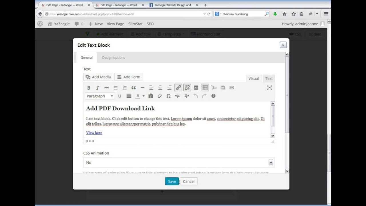 how to make a page live on wordpress