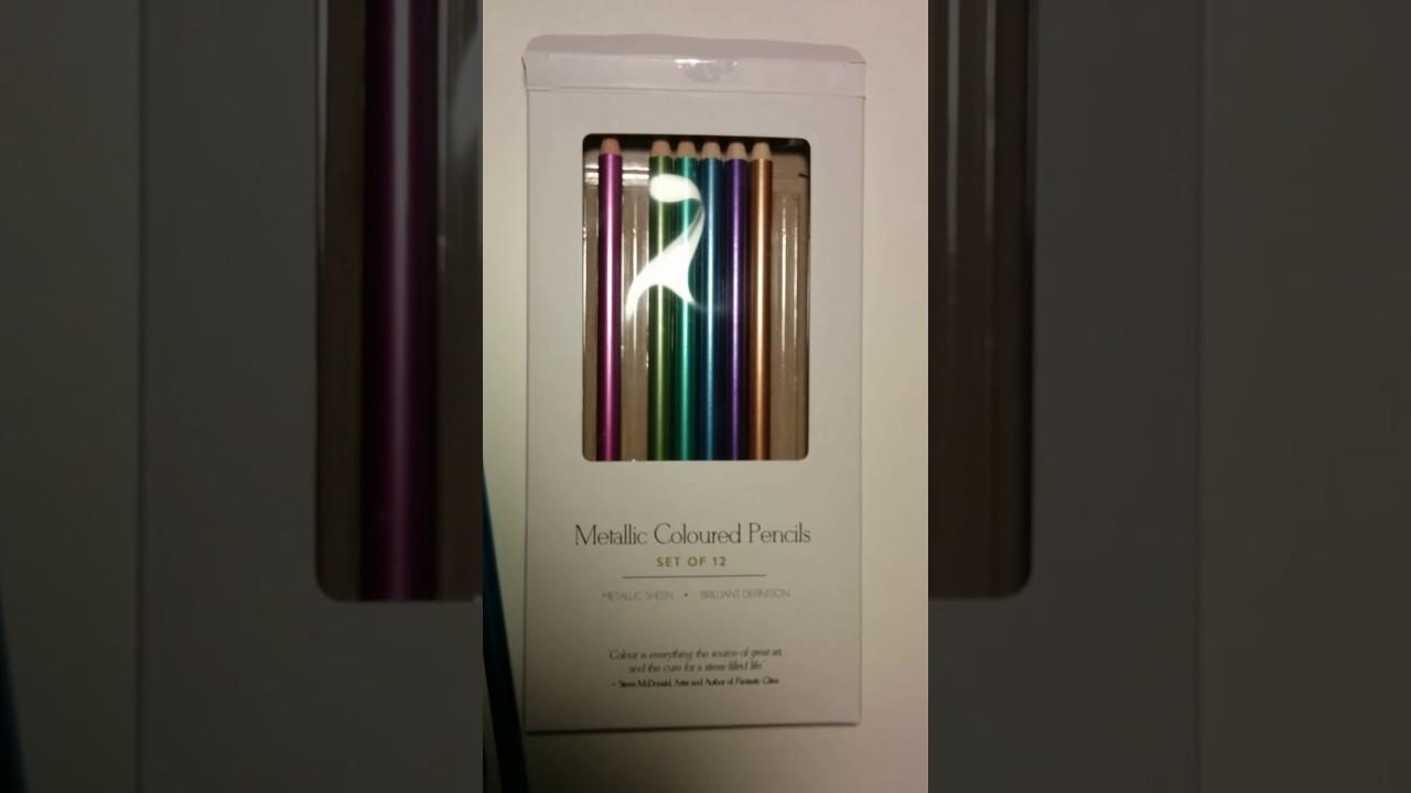 Coles Indigo Metallic Pencil Crayons Quick Review