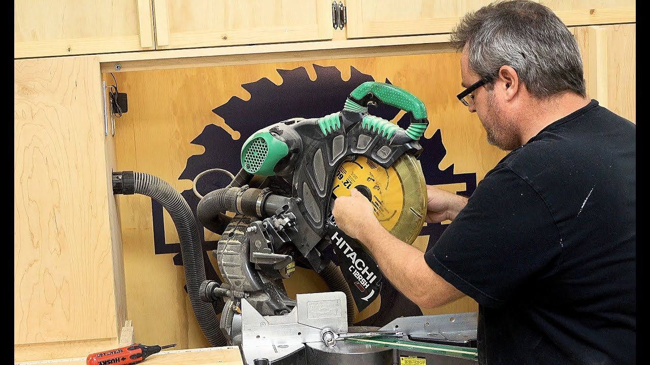 Lets change the blade on my miter saw youtube lets change the blade on my miter saw greentooth Choice Image