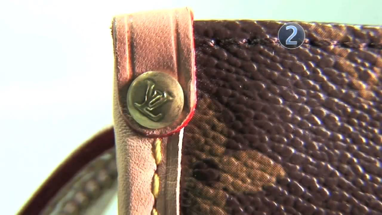 893745785aff How To Spot A Fake Louis Vuitton Bag - YouTube