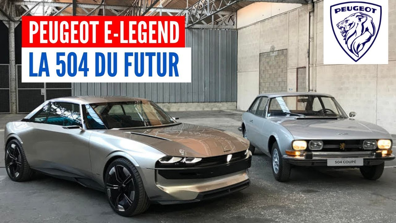 peugeot e legend concept une voiture en hommage la 504 youtube. Black Bedroom Furniture Sets. Home Design Ideas