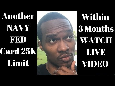 Navy Federal Credit Card $25,000 Approved Live in 3 Minutes