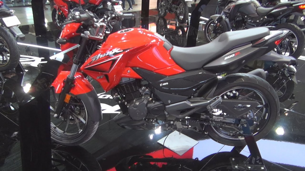 Hero Hunk 200r Red 2020 Exterior And Interior Youtube