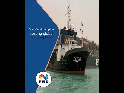 Suez Canal disruption costing global trade heavy losses
