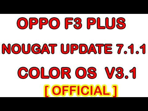Oppo F3 PLUS Nougat update (Official) 7 1 1