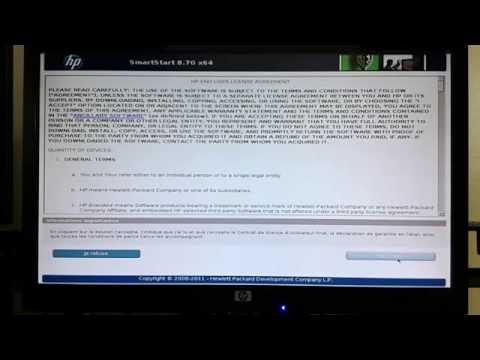 Installation Windows server 2008 sur serveur HP Proliant DL380 G7