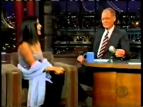 Salma Hayek on Letterman   Breasts