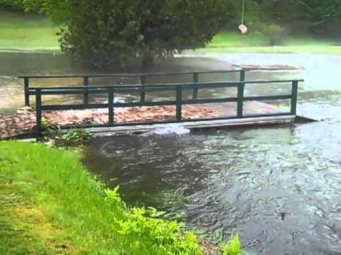 Flash flooding at Green Mansions, 5/28/11