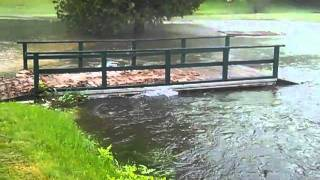 Flash flooding at Green Mansions, 5/28/11