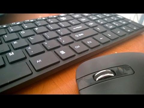 Беспроводная клавиатура и мышь - комплект из Китая за копейки