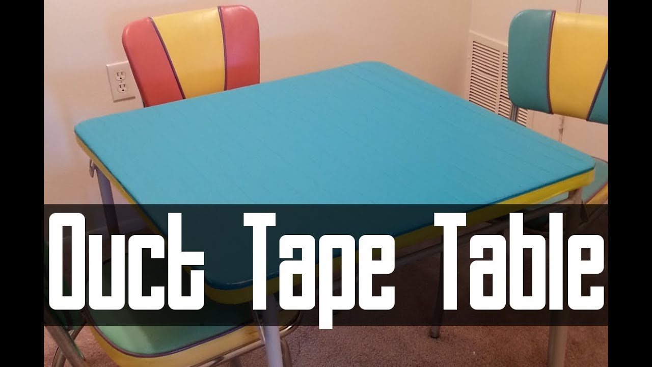 Duct Tape Card Table How To
