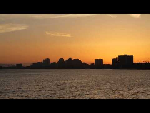 Long Beach Skyline Sunset Timelapse 4k