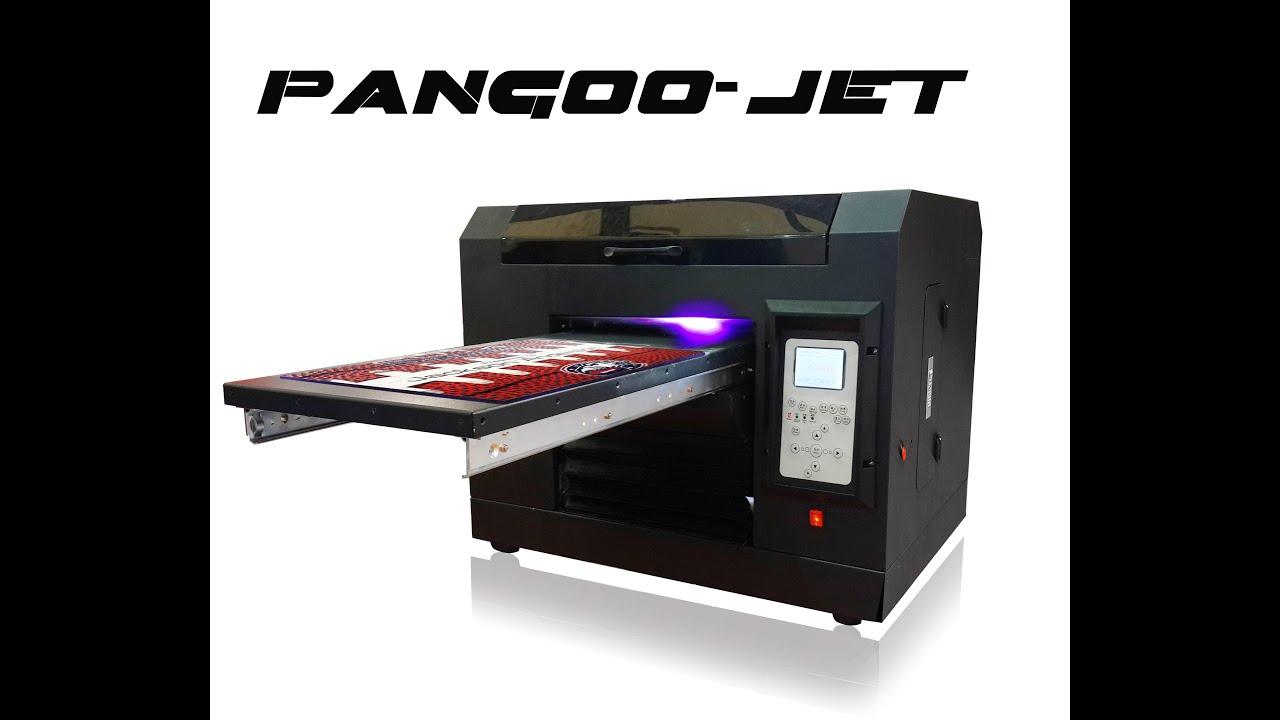 Pangoo Jet Digital LED UV Flatbed Printer With Industrial