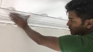 how to fitting cornice strip, same cornice corner design, very simple and, gypsum making my factory