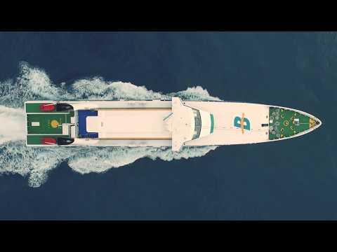 Fast Ferry Ramón Llull  (Balearia) 4k. Nauticmedia.