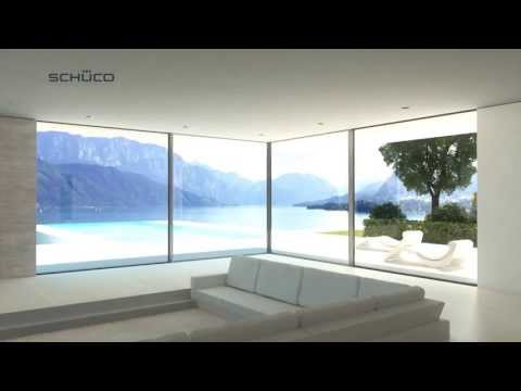 Schüco ASS 77 PD sliding system with Panorama Design