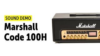 Marshall Code 100H Sound Demo (no talking)