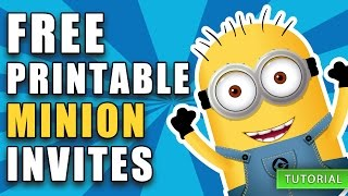 free printable despicable me minion