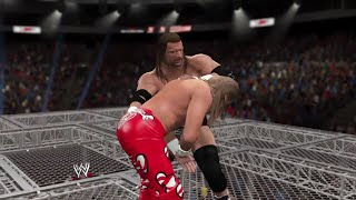 WWE 2K15- Shawn michaels vs Triple H Hell in the cell Match 2015 (PS4) gameplay