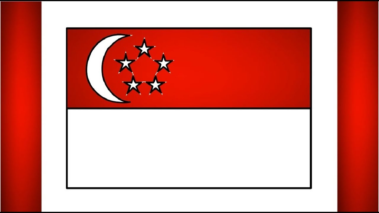 How To Drawing Singapore Flag