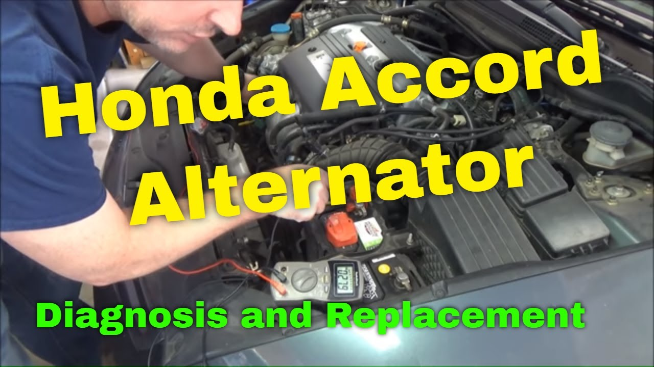 honda alternator diagnosis and replacement 2004 accord 2 4l i4