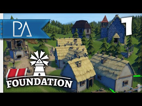 BUILDING A HUMBLE MEDIEVAL VILLAGE - Foundation Gameplay - Part 1
