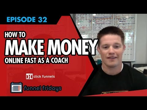 """How To Make Money Online Fast As A Coach - Use This """"Coaching"""" Sales Funnel Template"""