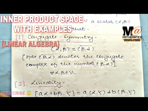 INNER PRODUCT SPACE    INNER PRODUCT SPACES IN LINEAR ALGEBRA