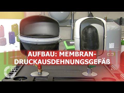 Membran Druckausdehnungsgefäß Heizung 80 L Schnellkupplung stehend