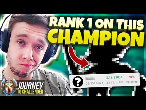 I&39;VE BECOME RANK 1 ON THIS CHAMPION FREELO - Journey To Challenger  LoL