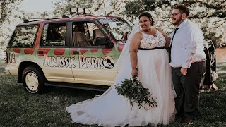 Bride and Groom Have 'Jurassic Park'-Themed Wedding in Wisconsin