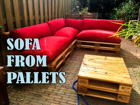 HOW TO MAKE A PALLET SOFA STEP BY STEP WITH MANUAL