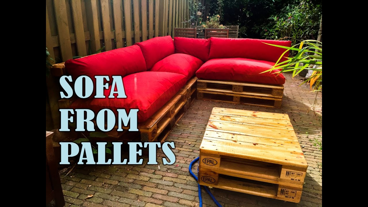 How To Make A Pallet Sofa Step By Step With Manual Youtube