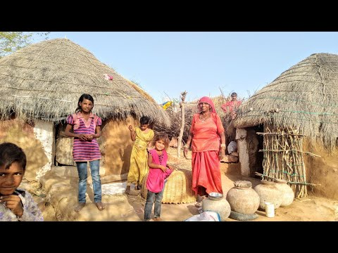 Desert Village life   Rajasthan Village Life Style   Desert People Life thumbnail