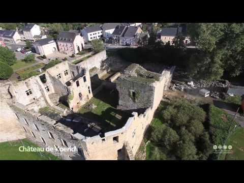 Vues Aériennes des Châteaux de Bourscheid, Brandenbourg et Koerich