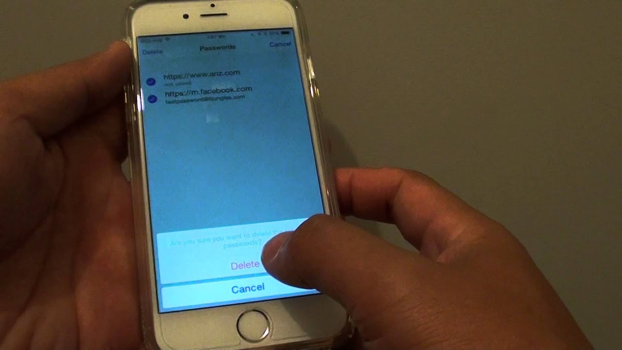 iPhone 6: How to Remove Saved Password in Safari