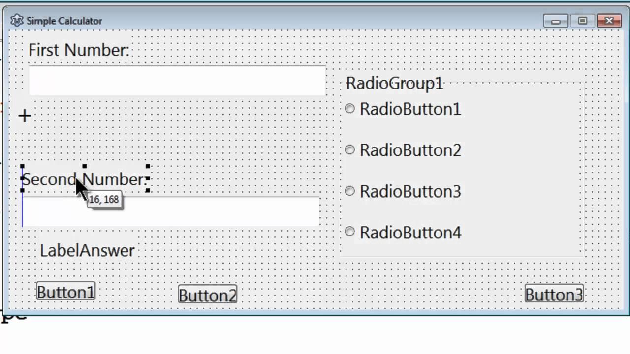 Free Pascal App Tutorial 5 - Simple Calculator Part 1 - Form Setup - Lazarus