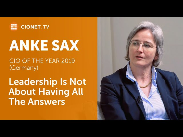 Anke Sax – Leadership Is Not About Having All The Answers