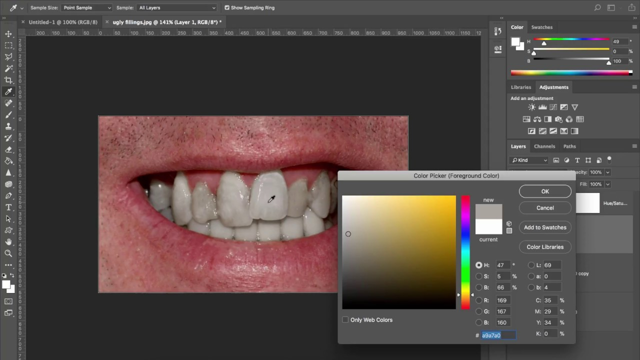 How To Whiten Ugly Teeth Adobe Photoshop Cc 2018 Youtube