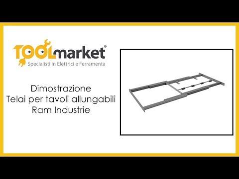 Telai Per Tavoli Allungabili.Ram Industrie Telai Per Tavoli Allungabili Youtube