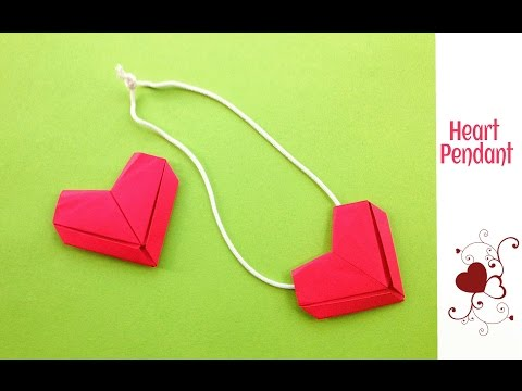 """Heart 💗 Pendant / Dollar"""" - Valentine special - DIY Tutorial by Paper Folds"""