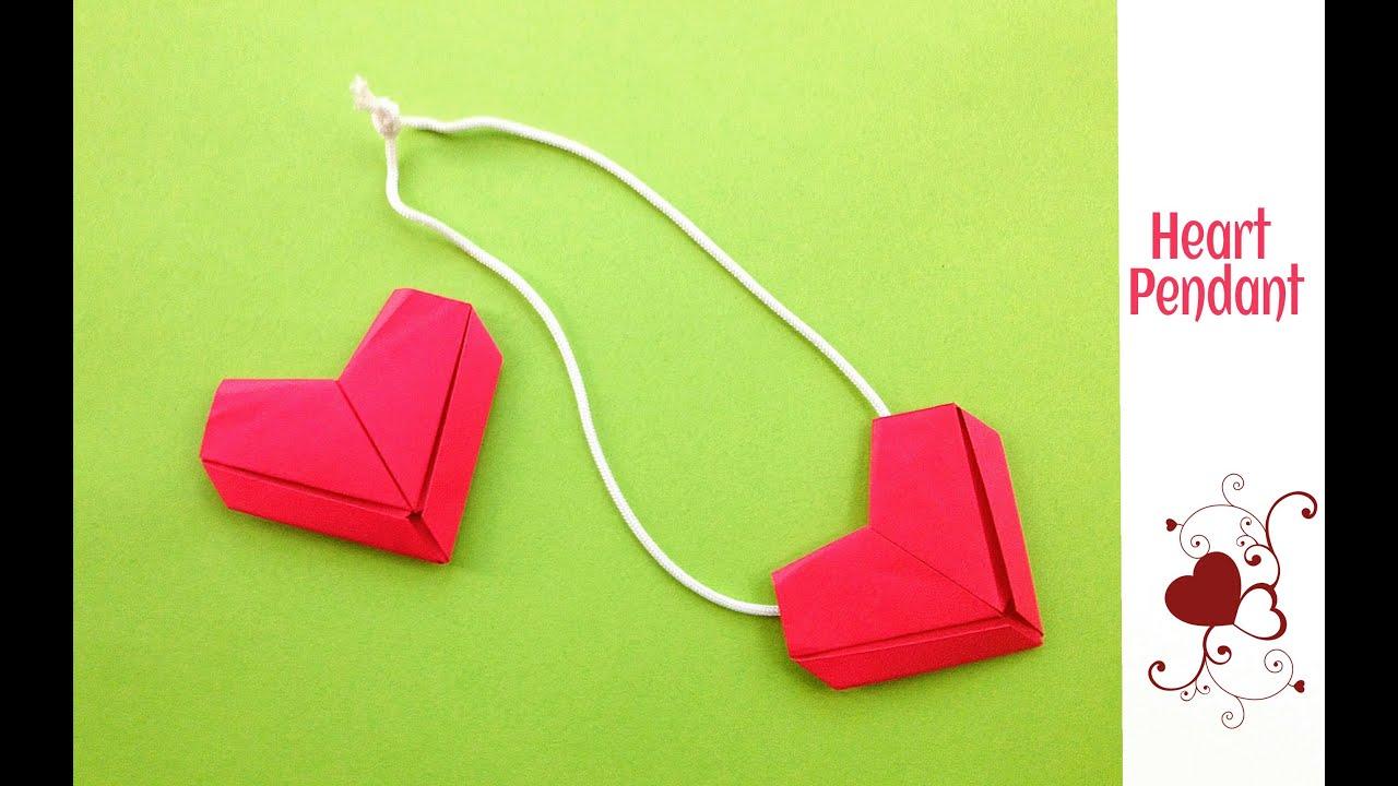 easy origami paper quotheart ��� pendant dollar