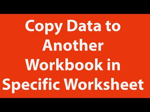 Copy data from one workbook to another in specific worksheet youtube copy data from one workbook to another in specific worksheet ibookread Download