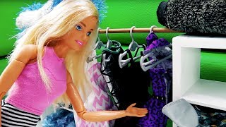 Видео для девочек. Барби в магазине одежды