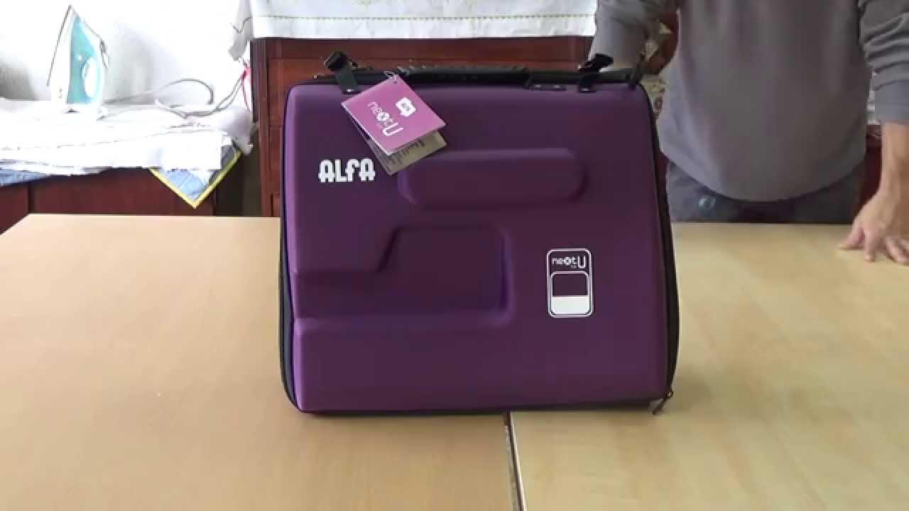 Maquina de coser , Funda ALFA - YouTube