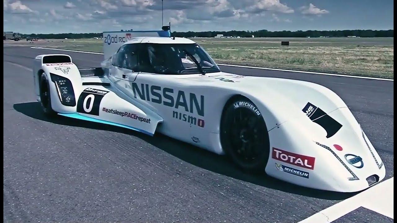 Driving Nissan S 750bhp Hybrid Le Mans Dart Shaped Racer