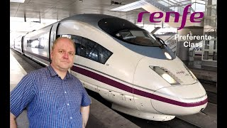 4K | Renfe AVE 103 High Speed Rail | First Class (Preferente) | Madrid - Barcelona